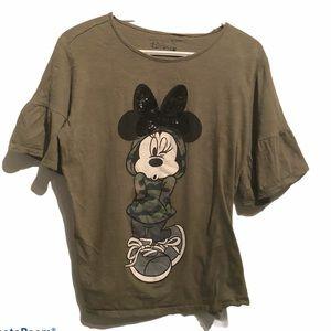 Disney Minnie Winking Camouflage T-shirt XL